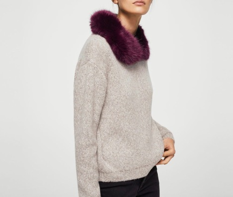 Fake fur collar detail - the best accessory.